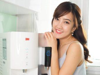 White 3M Filtered Water Dispenser